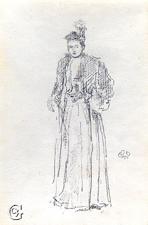 Whistler, Portrait Study: Charlotte R. Williams