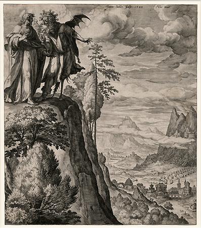 Sadeler The Temptation Of Christ