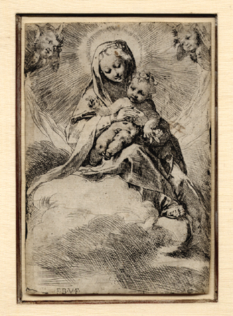 Barocci, Madonna and Child in the Clouds