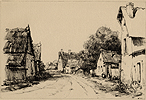 Webster, Road Through a Village