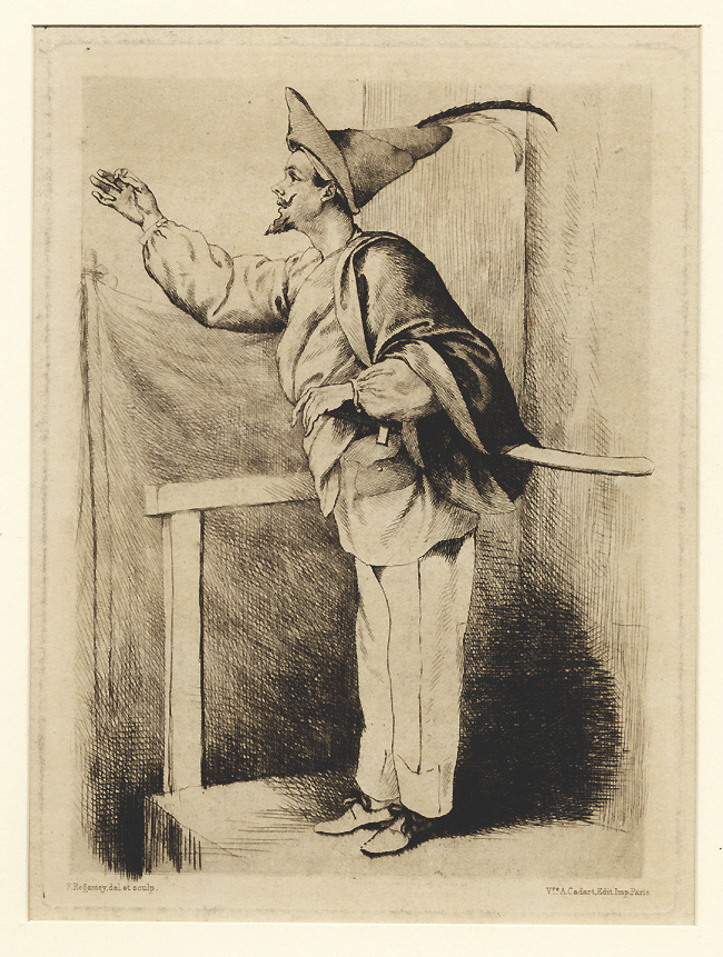 Régamey: A Figure from the Commedia dell'Arte