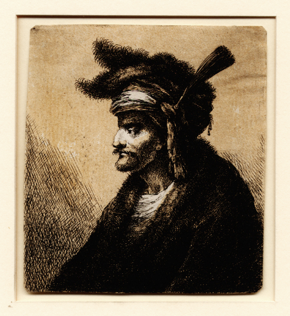Worlidge, Bust of a Man in a Feathered Turban