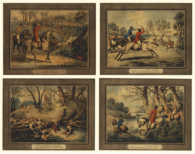 Howitt, The Fox Hunt (Set of 4)
