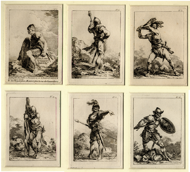 Loutherbourg, 1ére Suite de Soldats (Set of Six)