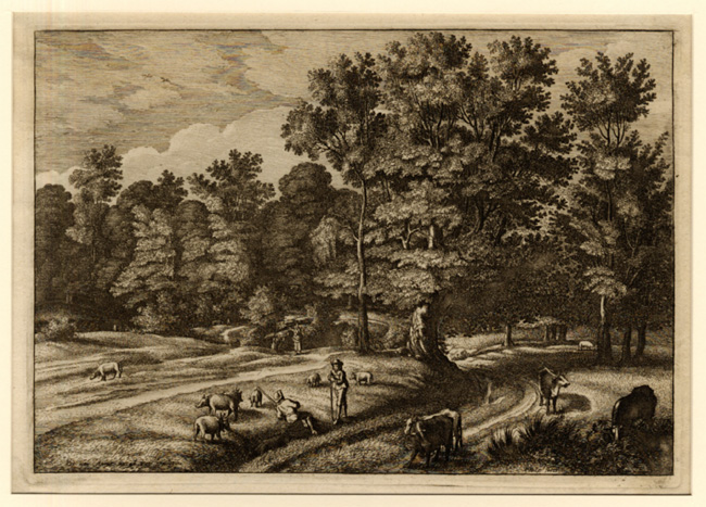 Hollar, Landscape with Herdsmen