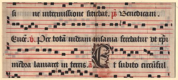 Florentine ca  1470, Music Manuscript