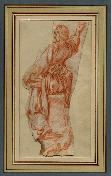 Itallian 16th Century, Study for a Draped Female Figure