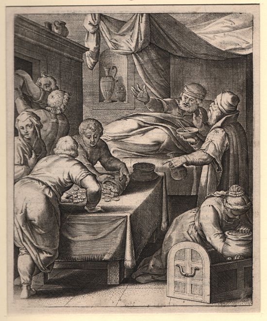 Flemish 17th Century, Doctor, Dying Miser