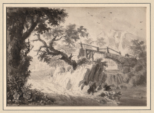 Dutch (?) 18th Century, Landscape with a River