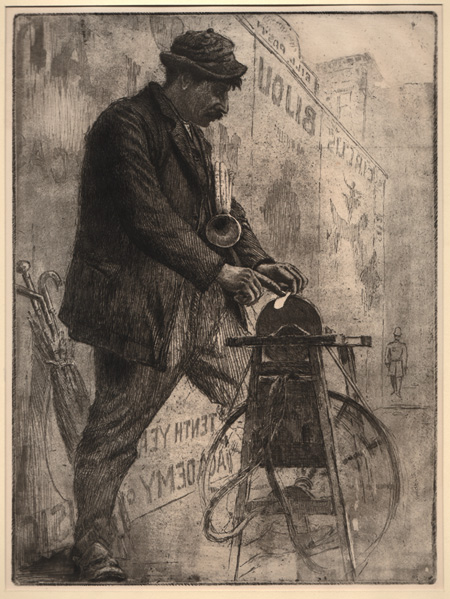 British 20th (?) Century, The Knife Grinder